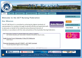 Screenshot of the ACT ANF Website