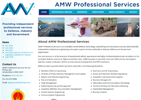 Screenshot of AMWPS Website