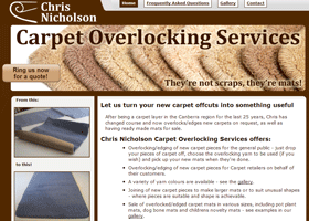 Screenshot of Chris Nicholson's Carpet Overlocking Services Website