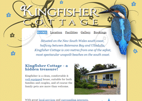 Screenshot of the Kingfisher Cottage Website