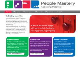 Screenshot of People<br /> Mastery Website