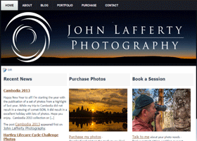 Screenshot of John Lafferty Photography home page